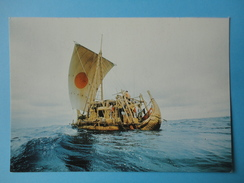 Norvegia - Oslo - Kon-Tiki Museum - The Papyrys Boat RA II Crossing Atlantic Ocean In 1970 - Bollo Svezia Sydostbrotten - Norvegia