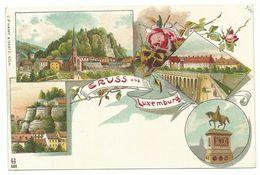 Luxembourg 4 Bilder Litho Um 1900 - Luxemburg - Town