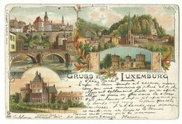 Luxembourg U.a. Colmar-Burg & Fort Thüngen Litho 1901 - Luxemburgo - Ciudad