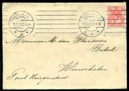 Nederland 1909 Brief Van Den Haag Naar Winschoten - Periode 1891-1948 (Wilhelmina)