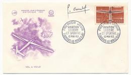 FRANCE - 4 Enveloppes FDC Aviation Légère Et Sportive 1962 Avec SIGNATURE AUTOGRAPHE Du Graveur J.COMBET - 1960-1969