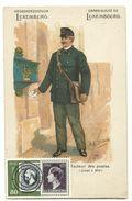 Luxembourg Facteur Des Postes Briefträger Litho Um 1900 Blanko Gestempelt 1952 - Postcards