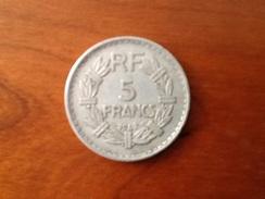 5 Francs Lavrillier 1947 7 Fauté Bavé Surplus - France