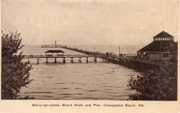 Chesapeake Beach : Merry-go-round, Board Walk And Pier - Vereinigte Staaten