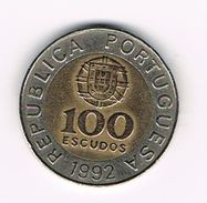 )  PORTUGAL  100  ESCUDOS  1992 - Portugal