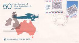 Australia 1981 50th Anniversary Of First Australia UK Flight, Wesley FDC - Premiers Jours (FDC)