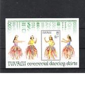 TUVALU (1989) - BLOC OF 1V (**MNH) - COSTUMES / DANSES - Mi BLOC 39 - Tuvalu