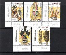 VANUATU (1997) - 5V (**MNH) - MASQUES - Y&T 1048/1052 (COINS) - Vanuatu (1980-...)