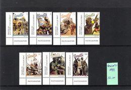 VANUATU (1999) - 7V (**MNH) - COSTUMES / DANSES - Y&T 1073/1079 (COINS) - Vanuatu (1980-...)