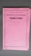 ARDRES Musique Municipale Programme Du Concert - Documents Historiques