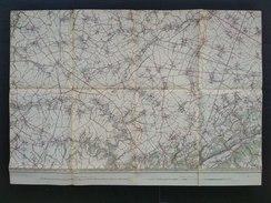 Topografische En Militaire Kaart STAFKAART 1906 Waremme Wasseiges Hannut Momalle Jehay-Bodegnée Braives Horion - Cartes Topographiques