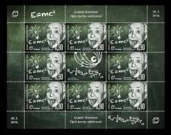 Bosnia And Herzegovina (Croatian) 2016 Mih. 427 Albert Einstein's General Theory Of Relativity (M/S) MNH ** - Bosnien-Herzegowina
