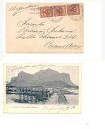 1844) Storia POSTALE Annullo Piroscafo 1903 CRISTOFORO COLOMBO Palermo X Argentina - 1900-44 Vittorio Emanuele III