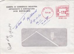 BUSTA VIAGGIATA - CAMERA DI COMMERCIO INDUSTRIA ARTIGIANATO E AGRICOLTURA DI BERGAMO - Affrancature Meccaniche Rosse (EMA)