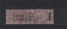 1944 RSI Pacchi 20 L. US - 1944-45 République Sociale