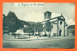 """CPA 69 Pont Trambouze """" L'église Et La Place """" LJCP 48 - Autres Communes"""