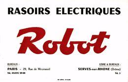 RASOIRS ELECTRIQUES ROBOT - Buvards, Protège-cahiers Illustrés