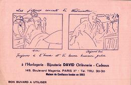 BIJOUTERIE DAVID ORFEVRERIE - Buvards, Protège-cahiers Illustrés