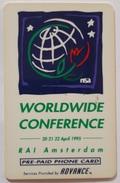 Carte Prépayée  Pays Bas  Worldwide Conférence 20 Au 22 Avril 95 Code Non Gratté  ( Scan Recto Verso ) - [3] Sim Cards, Prepaid & Refills