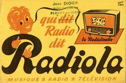 RADIOLA  MUSIQUE RADIO TELEVISION - Buvards, Protège-cahiers Illustrés