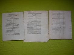 Corps Législatif 3 Documents Cérémonial, Note, Liste Des Législateurs A VOIR - Historische Documenten
