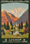 Publicité Ancienne - Luchon , Environ 1910 - Carte Photo Moderne - Werbepostkarten