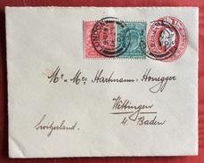 LONDON 23/12/1903 BIGLIETTO POSTALE 1 P.+1 + Half  Penny PER WETTINGEN KLOSTER   SVIZZERA - 1902-1951 (Re)