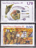 Série De 2 Timbres-poste Neufs** - Le Maréchal-ferrant - N° 689-690 (Yvert) - Saint-Pierre Et Miquelon 1999 - St.Pierre & Miquelon