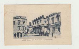LECCE - PIAZZA DELLE POSTE MONUMENTO A CASTROMEDIANO - VIAGGIATA - ANIMATA - POSTCARD - Lecce