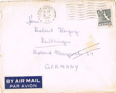 25845. Carta Aerea LAVAL Des RAPIDES (Quebec) 1961 To Germany - 1952-.... Règne D'Elizabeth II