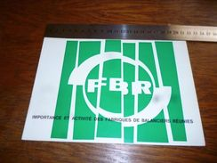 Folder Pub Horlogerie FBR Bienne Suisse 16 Pages - Other