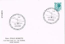25850. Tarjeta PISA (ITalia) 1980. 50 Anniversario Elicottero.  Helicoptero - 6. 1946-.. Repubblica