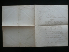 Manoscritto Sonetto Nozze De Angelini Pulciani Innsbruck 1869 Nipote Pilati - Oude Documenten