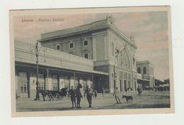 LIVORNO - STAZIONE CENTRALE - ANIMATA - NON VIAGGIATA - POSTCARD - Livorno