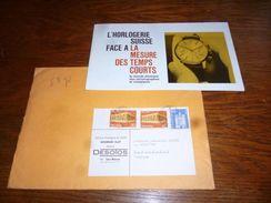 Folder  Horlogerie Montres Desotos Les Bioux Avec Courrier Et Enveloppe - Autres