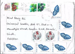 Finland Registered Airmail 2005 Personalized Stamp  0.90 €, 2013 Blackberry, 2016 Run My Reindeer Postal History Cover - Finland