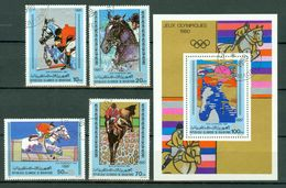 Mauretanie 1980 Mi 680/83, Bl 27 - Yv 462/65 Bl 30   Jeux Olympiques / Olymp. Spelen 1980 Obl. -  Gebr. - Used - Mauritanie (1960-...)