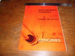 Folder  Horlogerie Technique Longines Calibres 430 431 433 10 Pages - Autres
