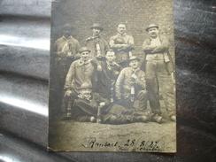 CPA PHOTO UNIQUE !! RANSART ( CHARLEROI ) - PUIT SAINT CHARLES 1927 ( MINEURS MINE CHARBONNAGE ) ( CARTE COUPEE ) - Charleroi