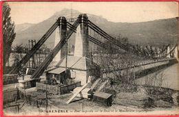 CPA 38 GRENOBLE Pont Suspendu Sur Le Drac - Grenoble