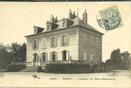 58 Niévre  MARZY Chateau De Saint Beaudiére  Voyagée - Autres Communes
