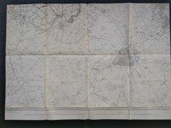 Topografische En Militaire Kaart STAFKAART 1909 Ploegsteert Lille Roubaix Armentieres - Cartes Topographiques