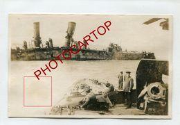 OOSTENDE-Hafen-Navires Detruits-Bateaux-Marine-CARTE PHOTO Allemande-Guerre 14-18-1 WK-BELGIEN-Flandern-Militaria- - Oostende