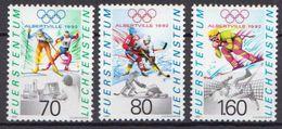 Liechtenstein MNH Set - Winter 1992: Albertville