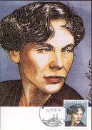 27080  SWITZERLAND,   MAXIMUM  1996 Iris Von Roten , Ecrivaine,writer - Maximum Cards