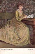 FEMME à L'HEURE DU THÉ / LADY At TEA TIME / TEESTUNDE - AUG. RIEPER - MÜNCHEN - ANNÉE / YEAR ~ 1910 - '15 (w-804) - Künstlerkarten