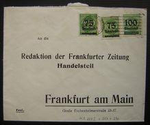 Affranchissement Multiple à 250 000 Mark (288I + 287 +290 ) Redaktion Der Frankfurter Zeitung Handelsteil - Duitsland