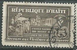 Haiti - Bienfaisance  - Yvert N° 6 Oblitere -  Aab15018 - Haiti