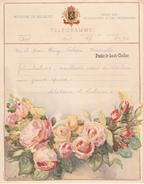 TELEGRAMME B.8 (F.) Bureau D'origine ANS Vers MOMALLE + Griffe Fexhe-le Haut-Clocher 1950 - Stamped Stationery