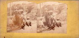 Photo Stéréoscopique - Scène De Vie - Groupe De Personnages Asiatiques ? - - Stereoscopic